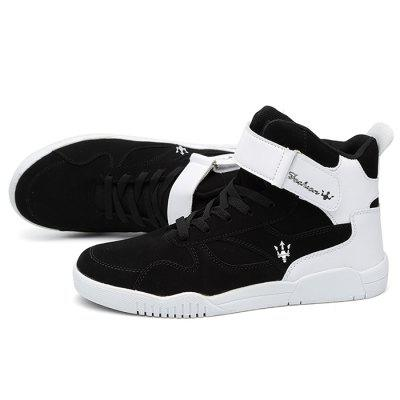 Male Stylish Slip Resistance Stitching High Top Leisure ShoesCasual Shoes<br>Male Stylish Slip Resistance Stitching High Top Leisure Shoes<br><br>Closure Type: Lace-Up, Buckle Strap<br>Contents: 1 x Pair of Shoes<br>Function: Slip Resistant<br>Materials: Rubber, PU<br>Occasion: Shopping, Casual, Daily, Holiday<br>Outsole Material: Rubber<br>Package Size ( L x W x H ): 30.00 x 18.00 x 12.00 cm / 11.81 x 7.09 x 4.72 inches<br>Package Weights: 0.85kg<br>Pattern Type: Solid<br>Seasons: Autumn,Spring<br>Style: Modern, Leisure, Fashion, Casual<br>Toe Shape: Round Toe<br>Type: Casual Leather Shoes<br>Upper Material: PU