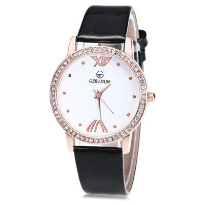 GERIDUN Women Round Dial Quartz Watch