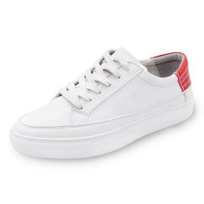 Male Simple Casual Daily Flat Lace Up Leisure SneakersCasual Shoes<br>Male Simple Casual Daily Flat Lace Up Leisure Sneakers<br><br>Closure Type: Lace-Up<br>Contents: 1 x Pair of Shoes<br>Decoration: Split Joint<br>Function: Slip Resistant<br>Materials: Rubber, PU<br>Occasion: Outdoor Clothing, Holiday, Daily, Casual<br>Outsole Material: Rubber<br>Package Size ( L x W x H ): 33.00 x 22.00 x 11.00 cm / 12.99 x 8.66 x 4.33 inches<br>Package Weights: 0.97kg<br>Pattern Type: Solid<br>Seasons: Autumn,Spring<br>Style: Modern, Leisure, Fashion, Comfortable, Casual<br>Toe Shape: Round Toe<br>Type: Casual Leather Shoes<br>Upper Material: PU