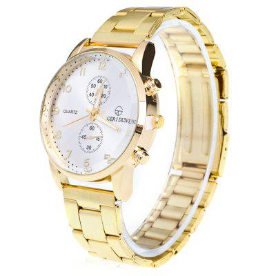 GERIDUN Men Quartz Watch with Two Small DialMens Watches<br>GERIDUN Men Quartz Watch with Two Small Dial<br><br>Band material: Steel<br>Band size: 20 x 2cm<br>Brand: GERIDUN<br>Case material: Steel<br>Clasp type: Butterfly clasp<br>Dial size: 3.5 x 3.5 x 1cm<br>Display type: Analog<br>Movement type: Quartz watch<br>Package Contents: 1 x Watch, 1 x Box<br>Package size (L x W x H): 8.00 x 7.50 x 5.50 cm / 3.15 x 2.95 x 2.17 inches<br>Package weight: 0.0900 kg<br>Product size (L x W x H): 20.00 x 3.50 x 1.00 cm / 7.87 x 1.38 x 0.39 inches<br>Product weight: 0.0400 kg<br>Shape of the dial: Round<br>Watch mirror: Acrylic<br>Watch style: Fashion<br>Watches categories: Men