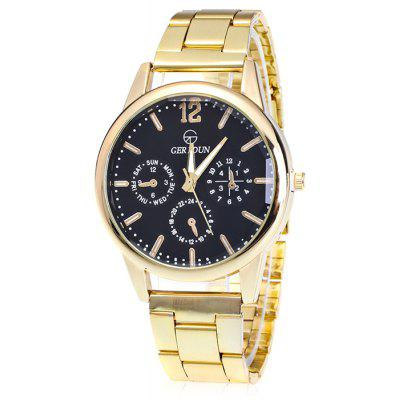 GERIDUN Men Simple Round Dial Quartz Watch