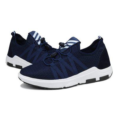 Male Breathable Lace Up Light Running SneakersAthletic Shoes<br>Male Breathable Lace Up Light Running Sneakers<br><br>Closure Type: Lace-Up<br>Contents: 1 x Pair of Shoes<br>Decoration: Weave<br>Function: Slip Resistant<br>Materials: Rubber, Woven Fabric<br>Occasion: Sports, Running, Outdoor Clothing, Holiday, Casual<br>Outsole Material: Rubber<br>Package Size ( L x W x H ): 33.00 x 22.00 x 11.00 cm / 12.99 x 8.66 x 4.33 inches<br>Package Weights: 0.68kg<br>Pattern Type: Solid<br>Seasons: Autumn,Spring<br>Style: Modern, Leisure, Comfortable, Casual<br>Toe Shape: Round Toe<br>Type: Sports Shoes<br>Upper Material: Woven Fabric