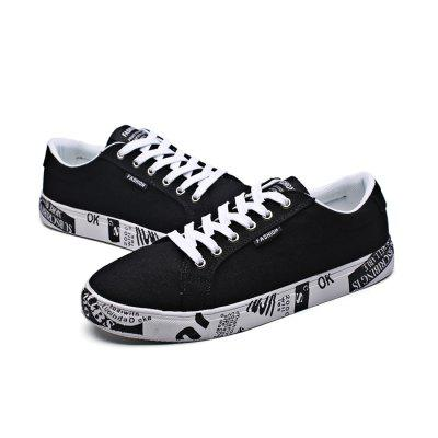 Male Stylish Anti Slip Canvas Pattern Leisure ShoesCasual Shoes<br>Male Stylish Anti Slip Canvas Pattern Leisure Shoes<br><br>Closure Type: Lace-Up<br>Contents: 1 x Pair of Shoes<br>Function: Slip Resistant<br>Materials: Rubber, Canvas<br>Occasion: Tea Party, Shopping, Holiday, Daily, Casual, Party<br>Outsole Material: Rubber<br>Package Size ( L x W x H ): 33.00 x 22.00 x 11.00 cm / 12.99 x 8.66 x 4.33 inches<br>Package Weights: 0.77kg<br>Pattern Type: Solid, Letter<br>Seasons: Autumn,Spring<br>Style: Modern, Leisure, Fashion, Comfortable, Casual<br>Toe Shape: Round Toe<br>Type: Casual Shoes<br>Upper Material: Canvas
