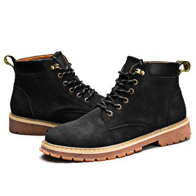 Male Casual Anti Slip Stitching Lace Up Martin BootsMens Boots<br>Male Casual Anti Slip Stitching Lace Up Martin Boots<br><br>Closure Type: Lace-Up<br>Contents: 1 x Pair of Shoes<br>Function: Slip Resistant<br>Materials: Rubber, Microfiber<br>Occasion: Shopping, Holiday, Daily, Casual, Party<br>Outsole Material: Rubber<br>Package Size ( L x W x H ): 30.00 x 20.00 x 16.00 cm / 11.81 x 7.87 x 6.3 inches<br>Package Weights: 1.05kg<br>Pattern Type: Solid<br>Seasons: Autumn,Spring<br>Style: Modern, Leisure, Fashion, Comfortable, Casual<br>Toe Shape: Round Toe<br>Type: Boots<br>Upper Material: Microfiber