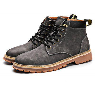 Modern Casual Anti Slip Stitching Lace Up Martin Boots