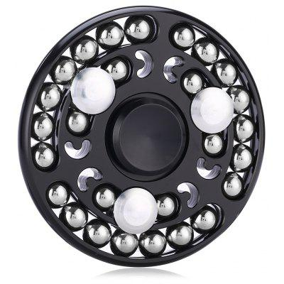 Round Zinc Alloy Fidget Spinner with 27 Beads