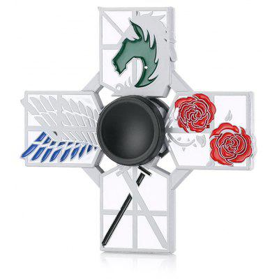 Rose War Style Four-blade Alloy Fidget Spinner