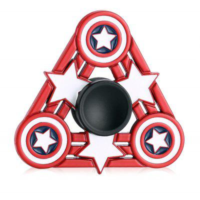 Triangle American Style Star Pattern Fidget Spinner