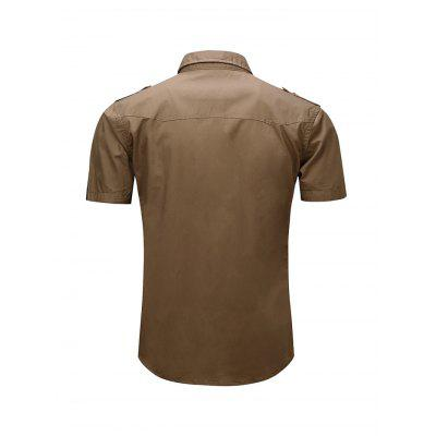 Simple Classic Military Style Short Sleeve ShirtMens Shirts<br>Simple Classic Military Style Short Sleeve Shirt<br><br>Material: Cotton<br>Package Contents: 1 x Shirt<br>Package size: 35.00 x 25.00 x 2.00 cm / 13.78 x 9.84 x 0.79 inches<br>Package weight: 0.2750 kg<br>Product weight: 0.2400 kg