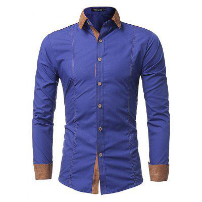 Male Slim Fit Long Sleeve Shirt