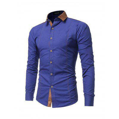 Male Slim Fit Long Sleeve ShirtMens Shirts<br>Male Slim Fit Long Sleeve Shirt<br><br>Material: Cotton<br>Package Contents: 1 x Shirt<br>Package size: 35.00 x 25.00 x 2.00 cm / 13.78 x 9.84 x 0.79 inches<br>Package weight: 0.2900 kg<br>Product weight: 0.2500 kg