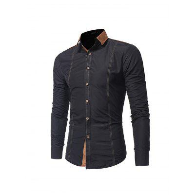 Splicing Slim Fit Long Sleeve ShirtMens Shirts<br>Splicing Slim Fit Long Sleeve Shirt<br><br>Material: Cotton<br>Package Contents: 1 x Shirt<br>Package size: 35.00 x 25.00 x 2.00 cm / 13.78 x 9.84 x 0.79 inches<br>Package weight: 0.3850 kg<br>Product weight: 0.3500 kg