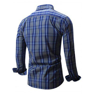 Male Slim Fit Gingham Long Sleeve ShirtMens Shirts<br>Male Slim Fit Gingham Long Sleeve Shirt<br><br>Package Contents: 1 x Man Shirt<br>Package size: 35.00 x 25.00 x 2.00 cm / 13.78 x 9.84 x 0.79 inches<br>Package weight: 0.2950 kg<br>Product weight: 0.2600 kg
