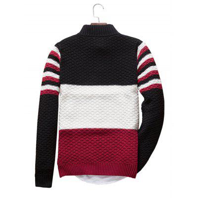 Simple Three-color Stitching Striped Long Sleeve SweaterMens Sweaters &amp; Cardigans<br>Simple Three-color Stitching Striped Long Sleeve Sweater<br><br>Material: Acrylic, Polyester<br>Package Contents: 1 x Sweater<br>Package size: 20.00 x 20.00 x 2.00 cm / 7.87 x 7.87 x 0.79 inches<br>Package weight: 0.4400 kg<br>Product weight: 0.4000 kg