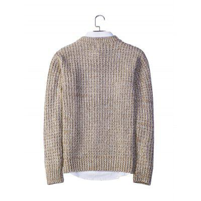 Simple Round Collar Long Sleeve SweaterMens Sweaters &amp; Cardigans<br>Simple Round Collar Long Sleeve Sweater<br><br>Material: Acrylic, Polyester<br>Package Contents: 1 x Sweater<br>Package size: 20.00 x 20.00 x 2.00 cm / 7.87 x 7.87 x 0.79 inches<br>Package weight: 0.4400 kg<br>Product weight: 0.4000 kg