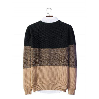 Knitted Color Matching Crew Neck SweaterMens Sweaters &amp; Cardigans<br>Knitted Color Matching Crew Neck Sweater<br><br>Material: Acrylic, Polyester<br>Package Contents: 1 x Sweater, 1 x Packaging Bag<br>Package size: 20.00 x 20.00 x 2.00 cm / 7.87 x 7.87 x 0.79 inches<br>Package weight: 0.4400 kg<br>Product weight: 0.4000 kg