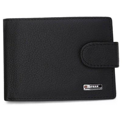 Men Fashion Bifold Leather Wallet with Buckle