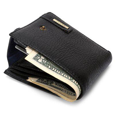 Fashion Leather Wallet for MenWallets<br>Fashion Leather Wallet for Men<br><br>Features: Wearable<br>Gender: Men<br>Material: Leather<br>Package Size(L x W x H): 13.00 x 10.50 x 3.50 cm / 5.12 x 4.13 x 1.38 inches<br>Package weight: 0.1300 kg<br>Packing List: 1 x Wallet<br>Product Size(L x W x H): 12.00 x 9.50 x 2.50 cm / 4.72 x 3.74 x 0.98 inches<br>Product weight: 0.1000 kg<br>Style: Casual, Fashion<br>Type: Wallet
