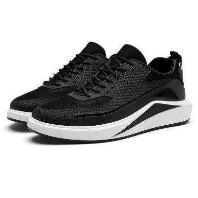 Male 3D Printing Slip Resistance Lace Up Outdoor Sneakers
