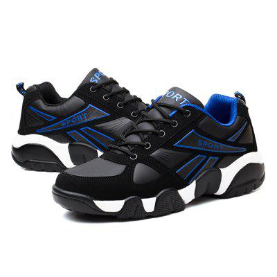 Male Breathable Slip Resistance Wearable Sports ShoesMen's Sneakers<br>Male Breathable Slip Resistance Wearable Sports Shoes<br><br>Closure Type: Lace-Up<br>Contents: 1 x Pair of Shoes<br>Decoration: Split Joint<br>Function: Slip Resistant<br>Materials: PU, Rubber, Cotton<br>Occasion: Sports, Running, Outdoor Clothing, Casual<br>Outsole Material: Rubber<br>Package Size ( L x W x H ): 31.00 x 21.00 x 11.00 cm / 12.2 x 8.27 x 4.33 inches<br>Package Weights: 0.79kg<br>Seasons: Autumn,Spring<br>Style: Modern, Leisure, Fashion, Comfortable, Casual<br>Toe Shape: Round Toe<br>Type: Sports Shoes<br>Upper Material: PU