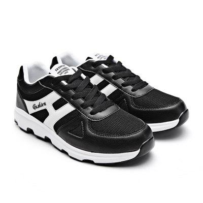 Male Breathable Fashionable Mesh Light Leather ShoesMen's Sneakers<br>Male Breathable Fashionable Mesh Light Leather Shoes<br><br>Closure Type: Lace-Up<br>Contents: 1 x Pair of Shoes<br>Materials: Mesh, PU, Leather<br>Occasion: Sports, Running, Holiday, Casual, Outdoor Clothing<br>Outsole Material: PU<br>Package Size ( L x W x H ): 33.00 x 22.00 x 11.00 cm / 12.99 x 8.66 x 4.33 inches<br>Package Weights: 0.67kg<br>Pattern Type: Letter<br>Seasons: Autumn,Spring<br>Style: Modern, Leisure, Fashion, Comfortable, Casual<br>Toe Shape: Round Toe<br>Type: Sports Shoes<br>Upper Material: Leather,Mesh