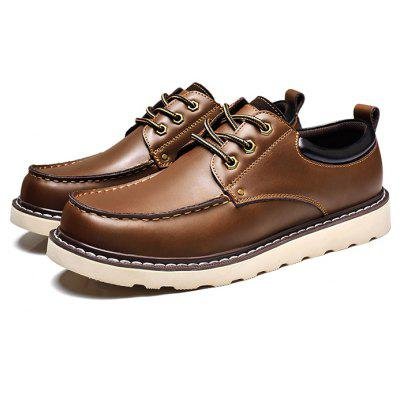 Masculino Soft Slip Resistance Stitching Leather Formal Shoes