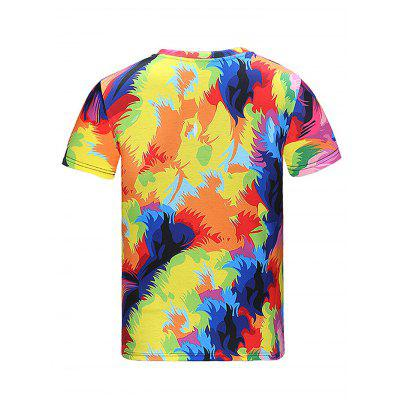 Fashionable Round Collar Printed T-shirtMens Short Sleeve Tees<br>Fashionable Round Collar Printed T-shirt<br><br>Fabric Type: Polyester<br>Material: Polyester<br>Neckline: Round Collar<br>Package Content: 1 x T-shirt<br>Package size: 35.00 x 25.00 x 2.00 cm / 13.78 x 9.84 x 0.79 inches<br>Package weight: 0.2500 kg<br>Product weight: 0.2000 kg<br>Season: Summer<br>Sleeve Length: Short Sleeves