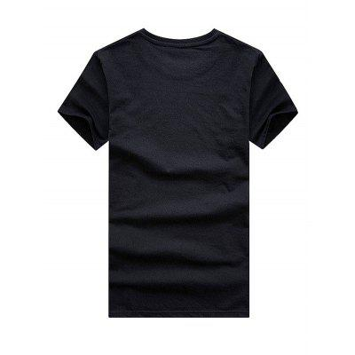 Classic Round Collar 3D Printed T-shirtMens Short Sleeve Tees<br>Classic Round Collar 3D Printed T-shirt<br><br>Fabric Type: Polyester, Cotton<br>Material: Cotton, Polyester<br>Neckline: Round Neck<br>Package Content: 1 x T-shirt<br>Package size: 35.00 x 25.00 x 2.00 cm / 13.78 x 9.84 x 0.79 inches<br>Package weight: 0.3000 kg<br>Product weight: 0.2500 kg<br>Season: Summer<br>Sleeve Length: Short Sleeves<br>Style: Casual