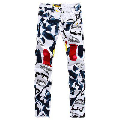 Stylish Printed Slim Jeans