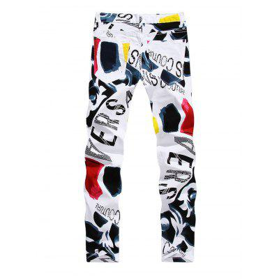 Stylish Printed Slim JeansMens Pants<br>Stylish Printed Slim Jeans<br><br>Material: Cotton<br>Package Contents: 1 x Men Pants<br>Package size: 35.00 x 25.00 x 2.00 cm / 13.78 x 9.84 x 0.79 inches<br>Package weight: 0.6200 kg<br>Product weight: 0.5500 kg