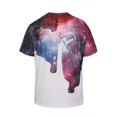 Fashion Round Collar Printed T-shirtMens Short Sleeve Tees<br>Fashion Round Collar Printed T-shirt<br><br>Fabric Type: Polyester<br>Material: Polyester<br>Neckline: Round Collar<br>Package Content: 1 x T-shirt<br>Package size: 35.00 x 25.00 x 2.00 cm / 13.78 x 9.84 x 0.79 inches<br>Package weight: 0.3500 kg<br>Product weight: 0.2800 kg<br>Season: Summer<br>Sleeve Length: Short Sleeves<br>Style: Casual