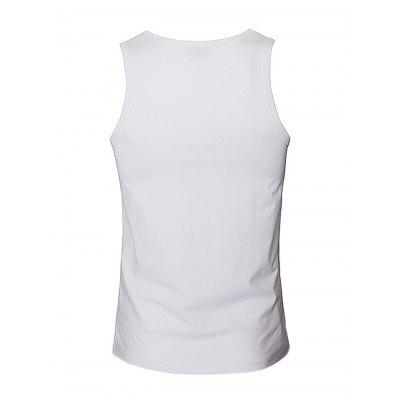 Simple Pure Cotton 3D Printed Tank TopMens Short Sleeve Tees<br>Simple Pure Cotton 3D Printed Tank Top<br><br>Clothing Length: Short<br>Embellishment: 3D Print<br>Material: Cotton<br>Package Contents: 1 x Tank Top<br>Package size: 35.00 x 25.00 x 2.00 cm / 13.78 x 9.84 x 0.79 inches<br>Package weight: 0.2500 kg<br>Product weight: 0.2000 kg<br>Style: Casual, Fashion