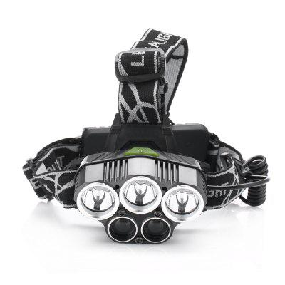 UltraFire XML - T6 6 Lighting Mode HeadlightHeadlights<br>UltraFire XML - T6 6 Lighting Mode Headlight<br><br>Available Light Color: Cool White<br>Battery Included or Not: No<br>Battery Quantity: 2<br>Battery Type: 18650<br>Beam Distance: 100-200m<br>Body Material: Aluminium Alloy<br>Color: Black<br>Emitters Quantity: 5<br>Function: Household Use, Hiking, Fishing, Exploring, Camping, Bicycle<br>Headlight Brand: Ultrafire<br>Luminous Flux: 1000Lm<br>Main Emitters: Cree XM-L T6<br>Mode: 1 (ON/OFF)<br>Package Contents: 1 x Ultrafire Headline, 1 x USB Wire<br>Package size (L x W x H): 11.50 x 11.50 x 10.00 cm / 4.53 x 4.53 x 3.94 inches<br>Package weight: 0.2600 kg<br>Product weight: 0.1800 kg<br>Type: LED Headlamp