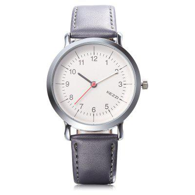 KEZZI 1699 Student Quartz WatchUnisex Watches<br>KEZZI 1699 Student Quartz Watch<br><br>Band material: Leather<br>Band size: 23.7 x 1.5cm<br>Brand: Kezzi<br>Case material: Alloy<br>Clasp type: Pin buckle<br>Dial size: 3.6 x 3.6 x 0.8cm<br>Display type: Analog<br>Movement type: Quartz watch<br>Package Contents: 1 x Watch<br>Package size (L x W x H): 26.50 x 5.20 x 1.00 cm / 10.43 x 2.05 x 0.39 inches<br>Package weight: 0.0540 kg<br>People: Unisex table<br>Product size (L x W x H): 23.70 x 3.60 x 0.80 cm / 9.33 x 1.42 x 0.31 inches<br>Product weight: 0.0310 kg<br>Shape of the dial: Round<br>Watch style: Classic, Casual<br>Water resistance : Life water resistant<br>Wearable length: 17.5 - 21.5cm