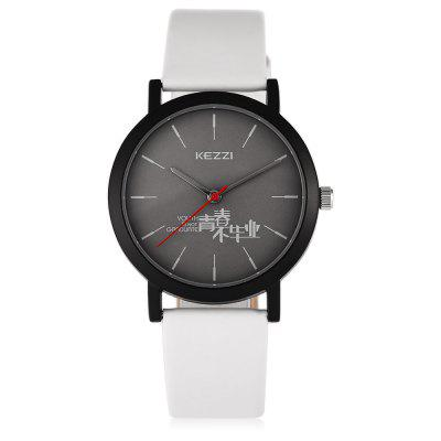 KEZZI 1754 Student Quartz WatchWomens Watches<br>KEZZI 1754 Student Quartz Watch<br><br>Available Color: Black,Blue,Pink,White<br>Band material: Leather<br>Band size: 24 x 1.5cm, 24 x 1.5cm<br>Case material: Alloy<br>Clasp type: Pin buckle<br>Dial size: 3.6 x 3.6 x 0.8cm, 3.6 x 3.6 x 0.8cm<br>Display type: Analog<br>Movement type: Quartz watch<br>Package Contents: 1 x Watch, 1 x Watch<br>Package size (L x W x H): 25.00 x 4.50 x 1.00 cm / 9.84 x 1.77 x 0.39 inches, 25.00 x 4.50 x 1.00 cm / 9.84 x 1.77 x 0.39 inches<br>Package weight: 0.0520 kg, 0.0520 kg<br>Product size (L x W x H): 24.00 x 3.60 x 0.80 cm / 9.45 x 1.42 x 0.31 inches, 24.00 x 3.60 x 0.80 cm / 9.45 x 1.42 x 0.31 inches<br>Product weight: 0.0290 kg, 0.0290 kg<br>Shape of the dial: Round<br>Watch style: Fashion<br>Watches categories: Women<br>Water resistance : Life water resistant, Life water resistant<br>Wearable length: 17 - 21.5cm, 17 - 21.5cm