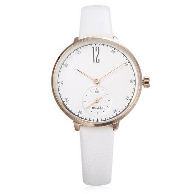KEZZI 1732 Women Quartz WatchWomens Watches<br>KEZZI 1732 Women Quartz Watch<br><br>Band material: Leather<br>Band size: 22 x 1cm<br>Brand: Kezzi<br>Case material: Alloy<br>Clasp type: Pin buckle<br>Dial size: 3.3 x 3.3 x 0.8cm<br>Display type: Analog<br>Movement type: Quartz watch<br>Package Contents: 1 x Watch<br>Package size (L x W x H): 25.00 x 4.50 x 1.00 cm / 9.84 x 1.77 x 0.39 inches<br>Package weight: 0.0450 kg<br>Product size (L x W x H): 22.00 x 3.30 x 0.80 cm / 8.66 x 1.3 x 0.31 inches<br>Product weight: 0.0220 kg<br>Shape of the dial: Round<br>Watch style: Casual<br>Watches categories: Women<br>Water resistance : Life water resistant<br>Wearable length: 16 - 20cm