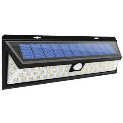 BRELONG Bright Outdoor Solar Lamp LED LightsOutdoor Lights<br>BRELONG Bright Outdoor Solar Lamp LED Lights<br><br>Available Color   : Black<br>Battery Capacity: 4400mAh lithium-ion battery<br>Battery Voltage: 3.7V<br>Charging Time: 6 - 8hours<br>Features: Waterproof<br>Light Type: Outdoor Light,Solar Light<br>Luminous Flux: 550lm<br>Material: ABS<br>Optional Light Color: White<br>Package Contents: 1 x Solar Lamp<br>Package size (L x W x H): 30.00 x 11.50 x 5.50 cm / 11.81 x 4.53 x 2.17 inches<br>Package weight: 0.4500 kg<br>Powered Source: Solar and Battery<br>Product size (L x W x H): 29.80 x 10.50 x 4.80 cm / 11.73 x 4.13 x 1.89 inches<br>Product weight: 0.3500 kg<br>Rated Power (W): 6W<br>Rated Voltage (V): 5V<br>Sensing Angle / Distance: 8 - 10m<br>Solar Panel : 3W<br>Total LED: 54<br>Working Time: 4 - 6hours