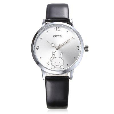 KEZZI 1760 Student Quartz WatchWomens Watches<br>KEZZI 1760 Student Quartz Watch<br><br>Band material: Leather<br>Band size: 22 x 1.1cm<br>Brand: Kezzi<br>Case material: Alloy<br>Clasp type: Pin buckle<br>Dial size: 3.2 x 3.2 x 0.8cm<br>Display type: Analog<br>Movement type: Quartz watch<br>Package Contents: 1 x Watch<br>Package size (L x W x H): 25.00 x 4.50 x 1.00 cm / 9.84 x 1.77 x 0.39 inches<br>Package weight: 0.0460 kg<br>Product size (L x W x H): 22.00 x 3.20 x 0.80 cm / 8.66 x 1.26 x 0.31 inches<br>Product weight: 0.0230 kg<br>Shape of the dial: Round<br>Watch style: Lovely<br>Watches categories: Women<br>Water resistance : Life water resistant<br>Wearable length: 16 - 20cm