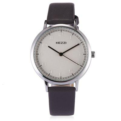 KEZZI 1696 Student Quartz WatchWomens Watches<br>KEZZI 1696 Student Quartz Watch<br><br>Band material: Leather<br>Band size: 22.5 x 1.3cm<br>Brand: Kezzi<br>Case material: Alloy<br>Clasp type: Pin buckle<br>Dial size: 3.7 x 3.7 x 0.8cm<br>Display type: Analog<br>Movement type: Quartz watch<br>Package Contents: 1 x Watch<br>Package size (L x W x H): 25.00 x 4.50 x 1.00 cm / 9.84 x 1.77 x 0.39 inches<br>Package weight: 0.0510 kg<br>Product size (L x W x H): 22.50 x 3.70 x 0.80 cm / 8.86 x 1.46 x 0.31 inches<br>Product weight: 0.0280 kg<br>Shape of the dial: Round<br>Watch style: Casual<br>Watches categories: Women<br>Water resistance : Life water resistant<br>Wearable length: 17 - 21cm