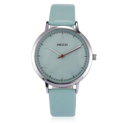 KEZZI 1696 Student Quartz WatchWomens Watches<br>KEZZI 1696 Student Quartz Watch<br><br>Band material: Leather, Leather<br>Band size: 22.5 x 1.3cm, 22.5 x 1.3cm<br>Brand: Kezzi, Kezzi<br>Case material: Alloy, Alloy<br>Clasp type: Pin buckle, Pin buckle<br>Dial size: 3.7 x 3.7 x 0.8cm, 3.7 x 3.7 x 0.8cm<br>Display type: Analog, Analog<br>Movement type: Quartz watch, Quartz watch<br>Package Contents: 1 x Watch, 1 x Watch<br>Package size (L x W x H): 25.00 x 4.50 x 1.00 cm / 9.84 x 1.77 x 0.39 inches, 25.00 x 4.50 x 1.00 cm / 9.84 x 1.77 x 0.39 inches<br>Package weight: 0.0510 kg, 0.0510 kg<br>Product size (L x W x H): 22.50 x 3.70 x 0.80 cm / 8.86 x 1.46 x 0.31 inches, 22.50 x 3.70 x 0.80 cm / 8.86 x 1.46 x 0.31 inches<br>Product weight: 0.0280 kg, 0.0280 kg<br>Shape of the dial: Round, Round<br>Watch style: Casual, Casual<br>Watches categories: Women, Women<br>Water resistance : Life water resistant, Life water resistant<br>Wearable length: 17 - 21cm, 17 - 21cm