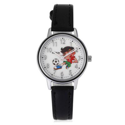 KEZZI 1673 Cartoon Quartz WatchKids Watches<br>KEZZI 1673 Cartoon Quartz Watch<br><br>Band material: PU<br>Band size: 19.8 x 0.9cm<br>Brand: Kezzi<br>Case material: Alloy<br>Clasp type: Pin buckle<br>Dial size: 2.8 x 2.8 x 0.7cm<br>Display type: Analog<br>Movement type: Quartz watch<br>Package Contents: 1 x Watch<br>Package size (L x W x H): 25.00 x 4.50 x 1.00 cm / 9.84 x 1.77 x 0.39 inches<br>Package weight: 0.0410 kg<br>Product size (L x W x H): 19.80 x 2.80 x 0.70 cm / 7.8 x 1.1 x 0.28 inches<br>Product weight: 0.0180 kg<br>Shape of the dial: Round<br>Watch style: Childlike, Lovely<br>Watches categories: Children table<br>Water resistance : Life water resistant<br>Wearable length: 13.5 - 17.8cm