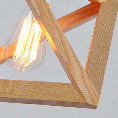 E27 Creative Modern Geometrical Pendant Light 220VPendant Light<br>E27 Creative Modern Geometrical Pendant Light 220V<br><br>Battery Included: No<br>Bulb Base: E27<br>Bulb Included: No<br>Chain / Cord Adjustable or Not: Chain / Cord Adjustable<br>Chain / Cord Length ( CM ): 120<br>Features: Designers<br>Fixture Height ( CM ): 26<br>Fixture Length ( CM ): 36<br>Fixture Width ( CM ): 36<br>Light Direction: Downlight<br>Number of Bulb: 1 Bulb<br>Package Contents: 1 x Pendant Light, 1 x Installation Component Kit<br>Package size (L x W x H): 46.00 x 46.00 x 30.00 cm / 18.11 x 18.11 x 11.81 inches<br>Package weight: 3.0500 kg<br>Product weight: 2.0000 kg<br>Shade Material: Hardware, Wood<br>Style: Modern/Contemporary<br>Suggested Room Size: 20 - 30?<br>Suggested Space Fit: Bedroom,Cafes,Dining Room,Study Room<br>Type: Pendant Light<br>Voltage ( V ): AC220
