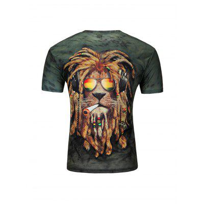 Male 3D Lion Printed Short Sleeve ShirtMens Short Sleeve Tees<br>Male 3D Lion Printed Short Sleeve Shirt<br><br>Fabric Type: Nylon<br>Material: Nylon<br>Neckline: Round Collar<br>Package Content: 1 x T-shirt<br>Package size: 35.00 x 25.00 x 2.00 cm / 13.78 x 9.84 x 0.79 inches<br>Package weight: 0.1900 kg<br>Product weight: 0.1400 kg<br>Season: Summer<br>Sleeve Length: Short Sleeves
