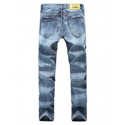Straight-leg Broken Hole Close-fitting PantsMens Pants<br>Straight-leg Broken Hole Close-fitting Pants<br><br>Material: Cotton<br>Package Contents: 1 x Pants, 1 x Packaging Bag<br>Package size: 35.00 x 25.00 x 2.00 cm / 13.78 x 9.84 x 0.79 inches<br>Package weight: 0.6500 kg<br>Product weight: 0.5800 kg