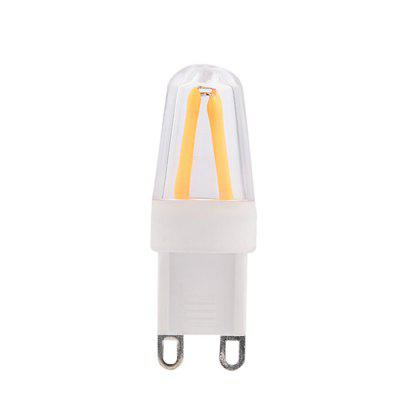 BRELONG Dimming LED Bulb AC220 - 240V 2PCSLED Bi-pin Lights<br>BRELONG Dimming LED Bulb AC220 - 240V 2PCS<br><br>Available Light Color: Warm White<br>Brand: BRELONG<br>CCT/Wavelength: 3000-3500K<br>Emitter Types: COB<br>Features: Energy Saving<br>Function: Home Lighting<br>Holder: E14,G9<br>Luminous Flux: 200lm<br>Package Contents: 2 x LED Light<br>Package size (L x W x H): 2.00 x 4.00 x 7.00 cm / 0.79 x 1.57 x 2.76 inches<br>Package weight: 0.0800 kg<br>Product size (L x W x H): 1.60 x 3.20 x 4.70 cm / 0.63 x 1.26 x 1.85 inches<br>Product weight: 0.0200 kg<br>Sheathing Material: Plastic<br>Total Emitters: 4<br>Type: Bi-pin Bulb<br>Voltage (V): AC 220-240<br>Wattage Range: ?5W