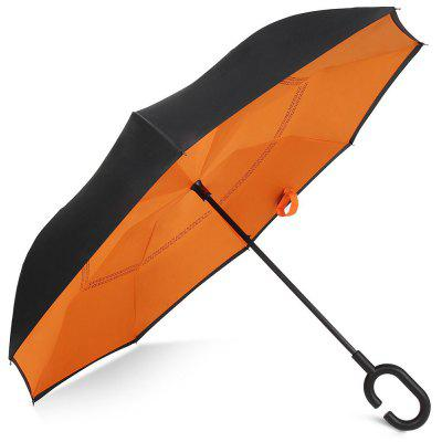 Two-tone Windproof Reverse Close Double-layer Umbrella - ORANGE