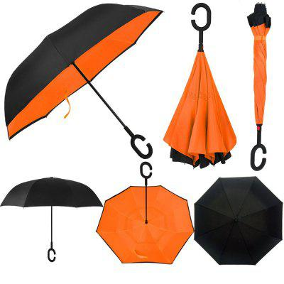Two-tone Windproof Reverse Close Double-layer UmbrellaUmbrella &amp; Raincoats<br>Two-tone Windproof Reverse Close Double-layer Umbrella<br><br>Package Contents: 1 x Umbrella<br>Package Size(L x W x H): 84.00 x 8.00 x 8.00 cm / 33.07 x 3.15 x 3.15 inches<br>Package weight: 0.6060 kg<br>Product size (L x W x H): 80.00 x 7.00 x 7.00 cm / 31.5 x 2.76 x 2.76 inches<br>Product weight: 0.5160 kg