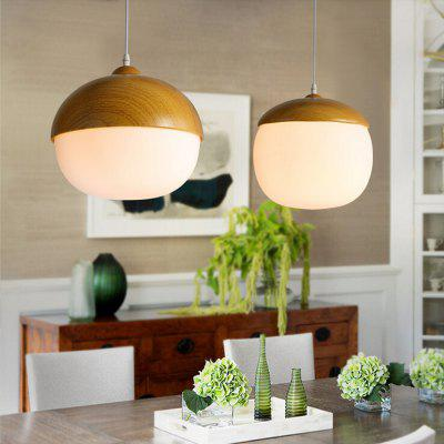 Simple Wood Color Pendant Light 220V
