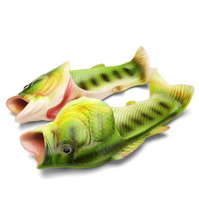 Male Special Stylish Water Resistance Fish Mouth Slippers