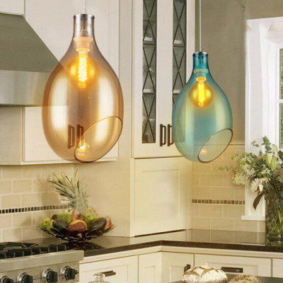 Simple Creative Bottle Shape Glass Pendant Light 220VPendant Light<br>Simple Creative Bottle Shape Glass Pendant Light 220V<br><br>Battery Included: No<br>Bulb Base: E27<br>Bulb Included: No<br>Chain / Cord Adjustable or Not: Chain / Cord Adjustable<br>Chain / Cord Length ( CM ): 120cm<br>Features: Eye Protection<br>Fixture Height ( CM ): 25cm<br>Fixture Length ( CM ): 38cm<br>Fixture Width ( CM ): 38cm<br>Light Direction: Downlight<br>Number of Bulb: 1 Bulb<br>Number of Bulb Sockets: 1<br>Package Contents: 1 x Light, 1 x Assembly Parts<br>Package size (L x W x H): 48.00 x 48.00 x 30.00 cm / 18.9 x 18.9 x 11.81 inches<br>Package weight: 4.0300 kg<br>Product weight: 3.0000 kg<br>Remote Control Supported: No<br>Shade Material: Hardware, Glass<br>Style: Modern/Contemporary<br>Suggested Room Size: 20 - 30?<br>Suggested Space Fit: Bedroom,Dining Room,Kitchen,Living Room,Study Room<br>Type: Pendant Light<br>Voltage ( V ): AC220